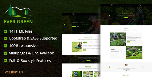 Ever Green HTML5 Responsive Template