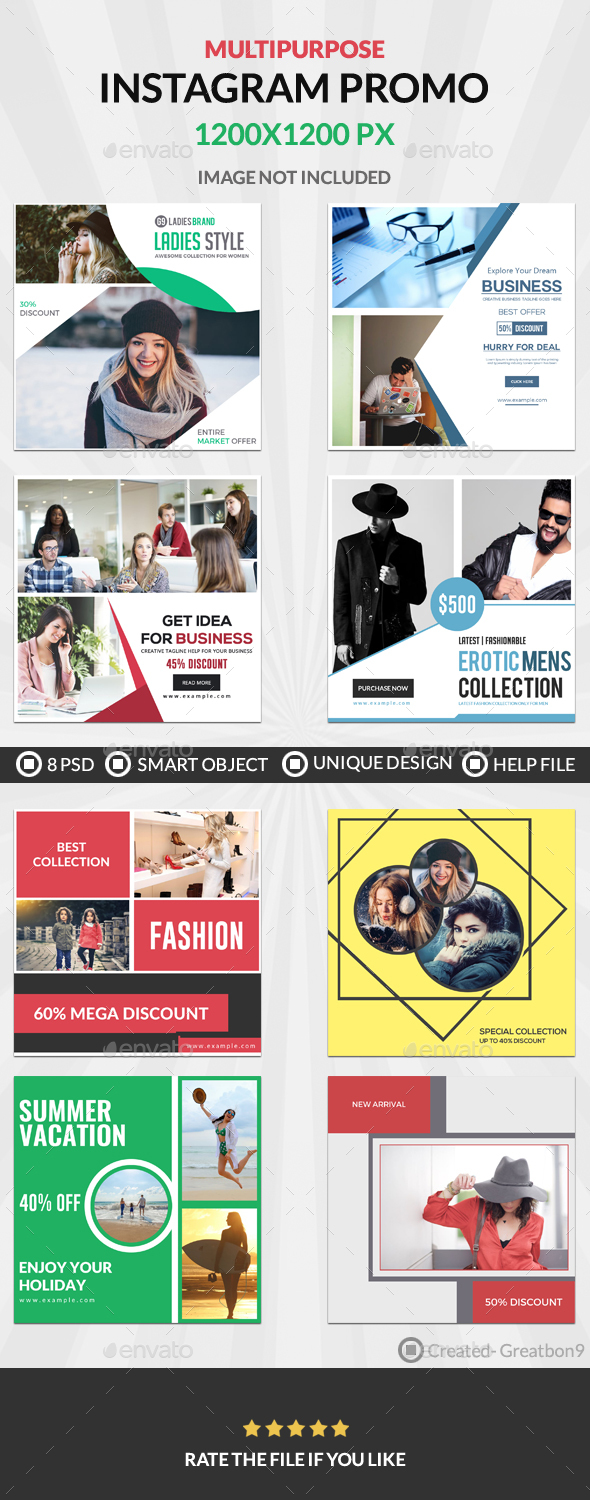 Instagram - 8 Design - Banners & Ads Web Elements