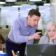 Manager Is Giving Advice To Colleague - VideoHive Item for Sale