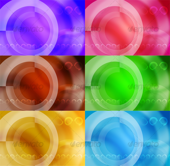 Dynamic Circles - Abstract Backgrounds