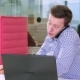 Busy Multitasking Attractive Businessman in the Office - VideoHive Item for Sale