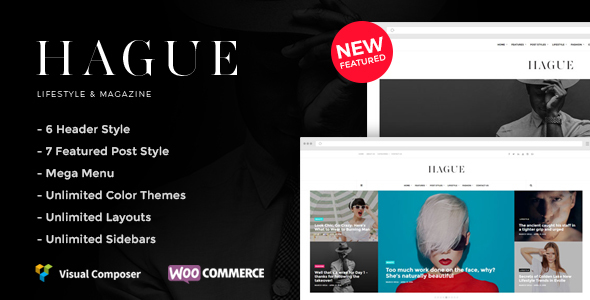 Hague - Lifestyle & Magazine WordPress Theme - News / Editorial Blog / Magazine