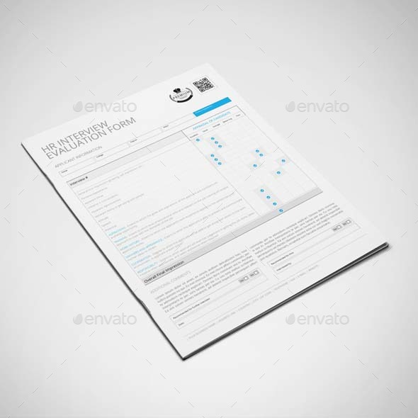 Hr Interview Evaluation Form Template Us Letter By Keboto