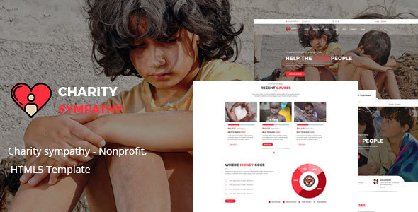 Image of Charity sympathy - Nonprofit, Donation, Charity HTML5 Template