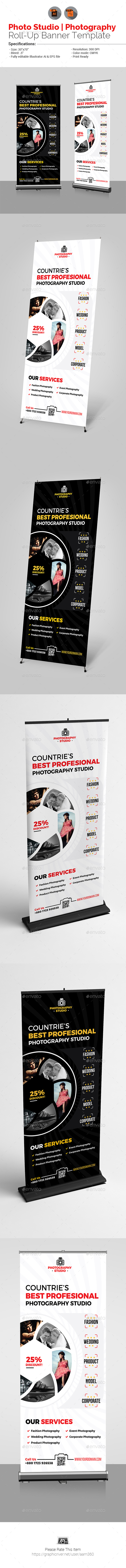 Photo Studio Roll-Up Banner V2 - Signage Print Templates