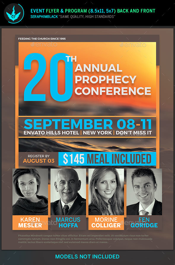 Annual Prophecy Conference Flyer Template by SeraphimBlack ...