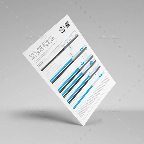 employee benefits survey a4 template by keboto