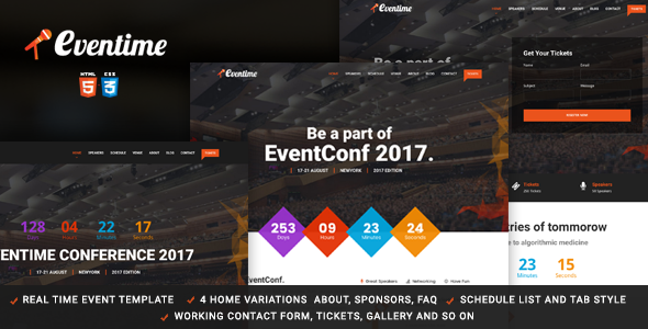 Eventime -  Conference & Event HTML Template - Events Entertainment