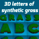 3D Letters of Synthetic Grass - GraphicRiver Item for Sale