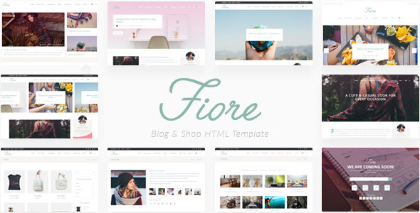 Fiore - Blog & Shop HTML Template - Personal Site Templates