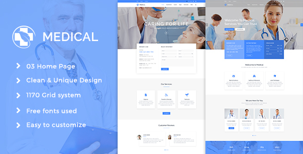Medical Health Psd Template - Health & Beauty Retail