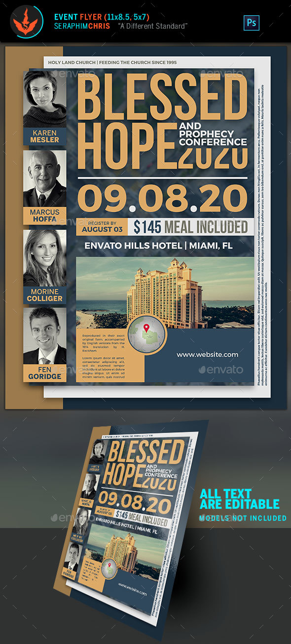 Blessed Hope Prophecy Conference Church Flyer Template - Church Flyers