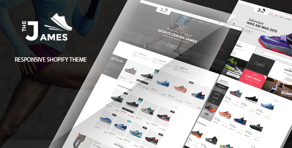 Image of James - Responsive Shoes Shopify Theme - Sectioned