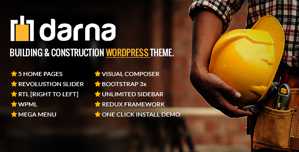 Darna – Building & Construction WordPress Theme - Business Corporate