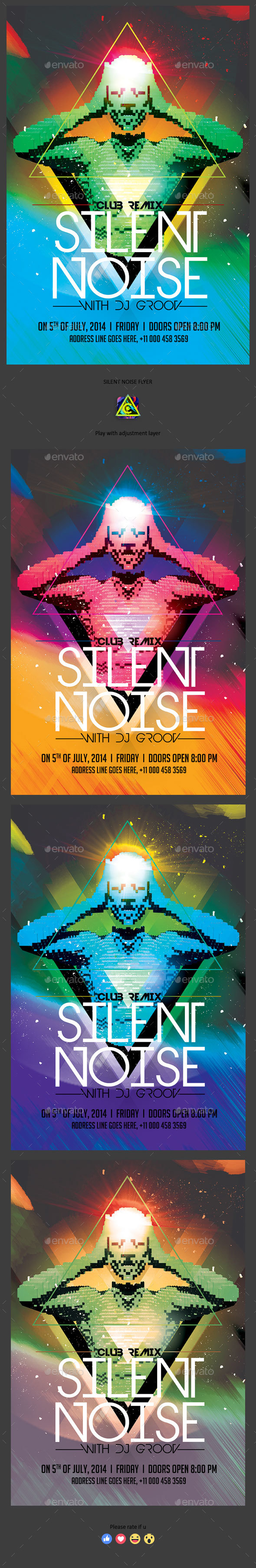 Silent Noise Flyer - Clubs & Parties Events