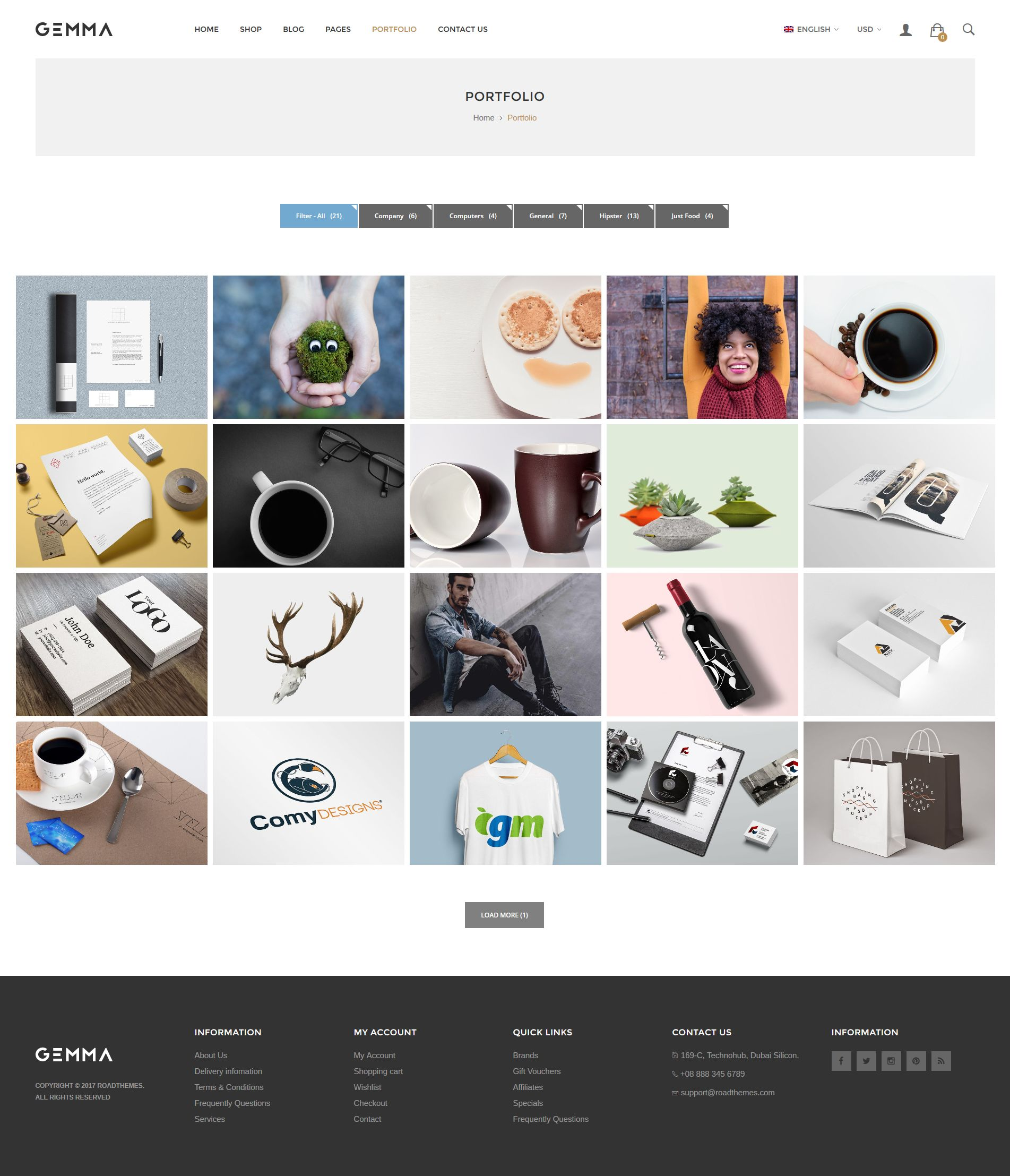 Copyright 169 2017 the design co all rights reserved - Gemma Multipurpose Woocommerce Wordpress Theme