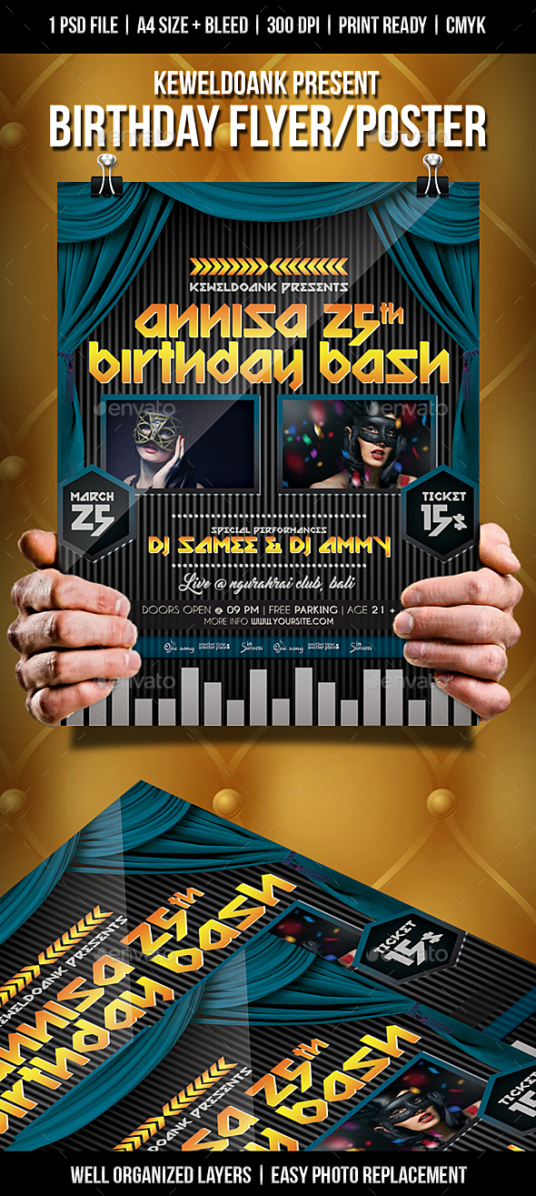 Birthday Flyer / Poster - Clubs & Parties Events