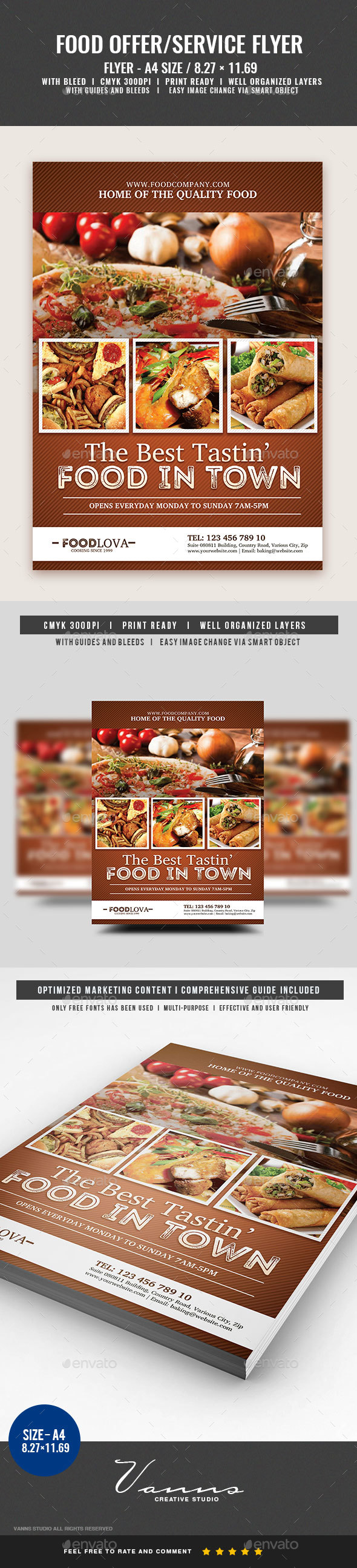 Food Services Flyer Template - Restaurant Flyers