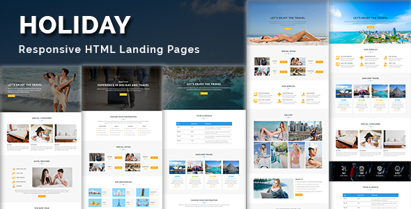 Image of HOLIDAY - Multipurpose Responsive HTML Landing Page