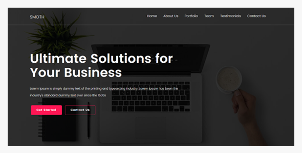 Image of Smoth | Creative Onepage Joomla Template
