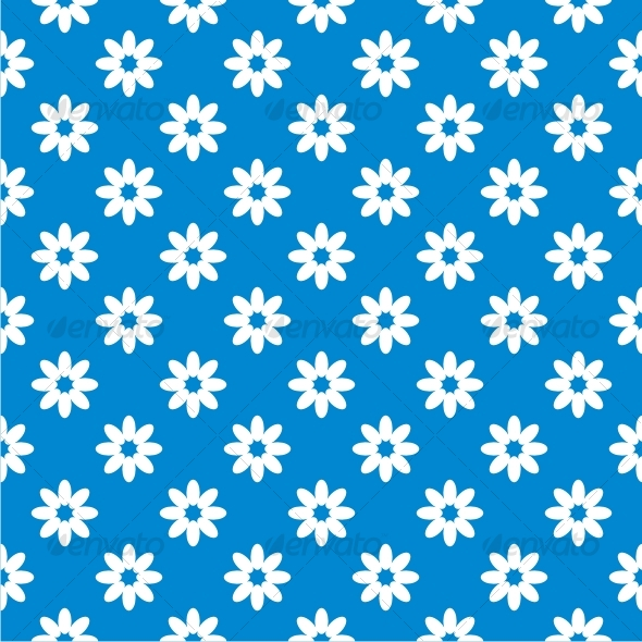 Blue seamless floral background - Backgrounds Decorative