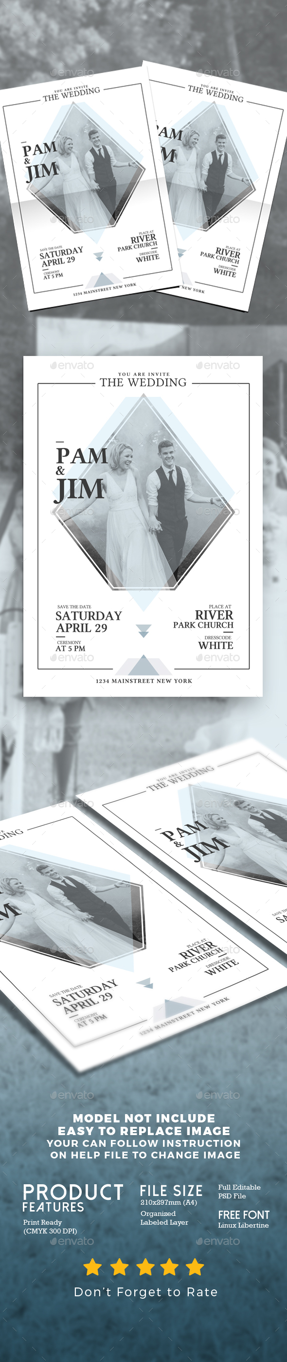 Wedding Invitation Simple Style - Weddings Cards & Invites