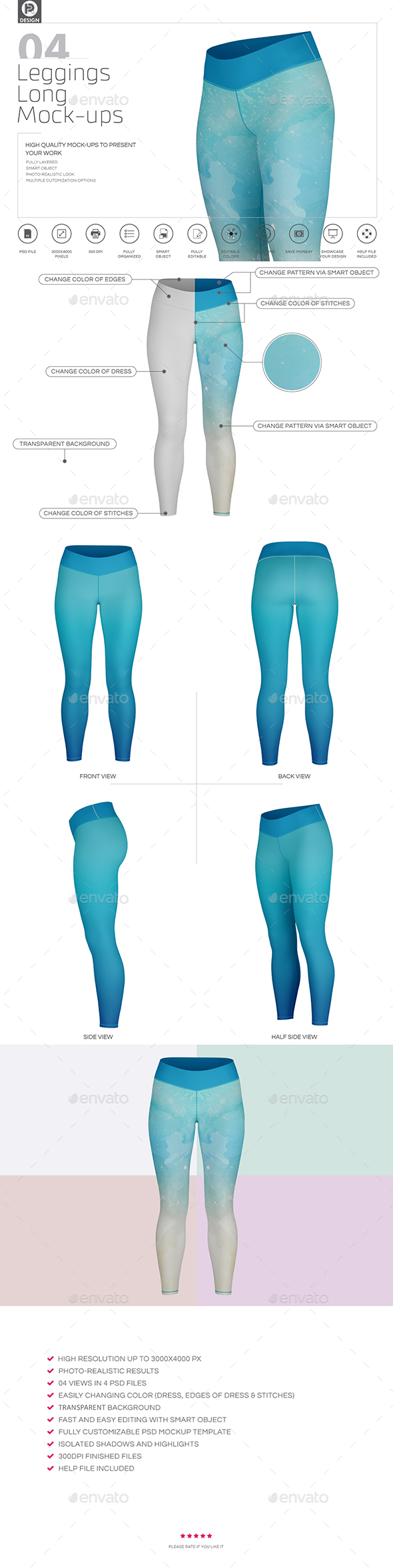 Leggings Long Mockups - Miscellaneous Apparel