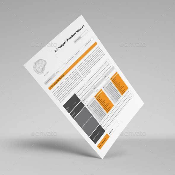 Job Analysis Worksheet Template By Keboto | Graphicriver