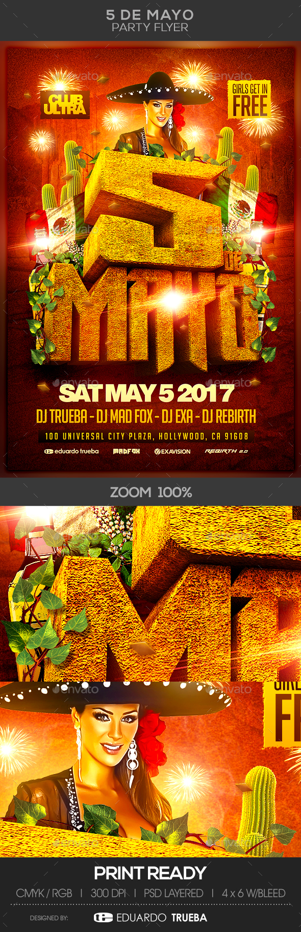5 de Mayo Party Flyer - Holidays Events