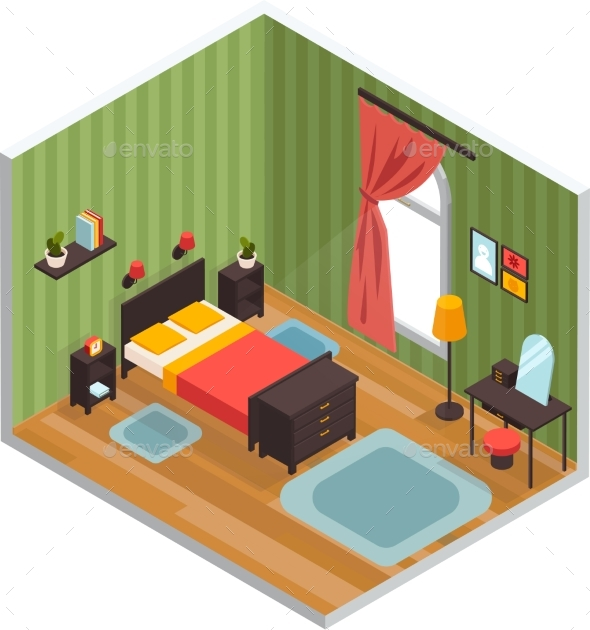 Bedroom Interior Concept - Man-made Objects Objects