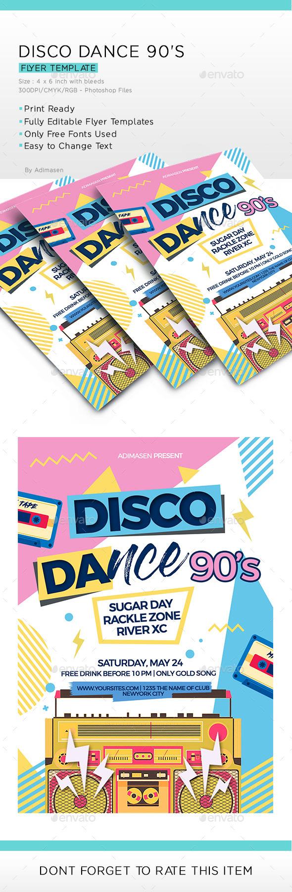 Disco Dance - Events Flyers