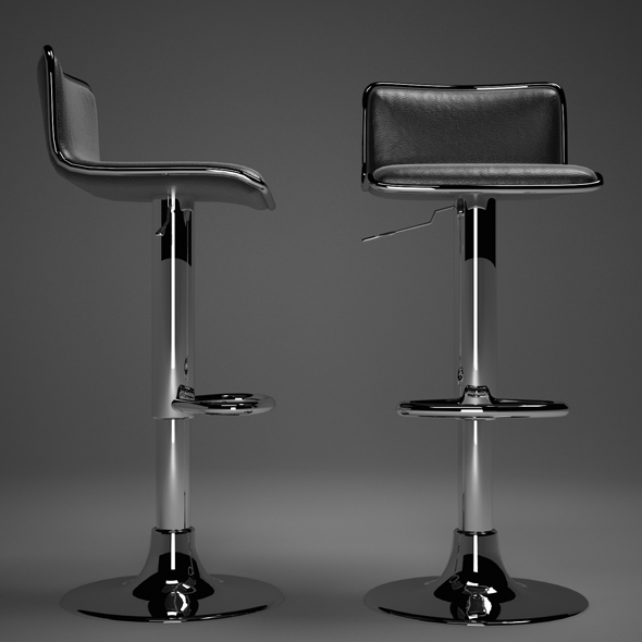 Bar chair black - 3DOcean Item for Sale