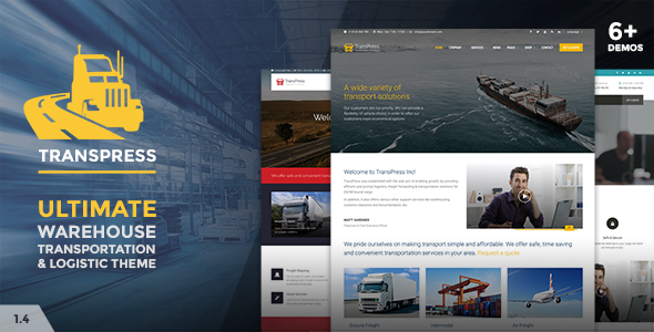 TransPress - Ultimate Transport Logistics Warehouse WP Theme - Business Corporate