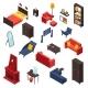 Living Room Furniture Icons Set