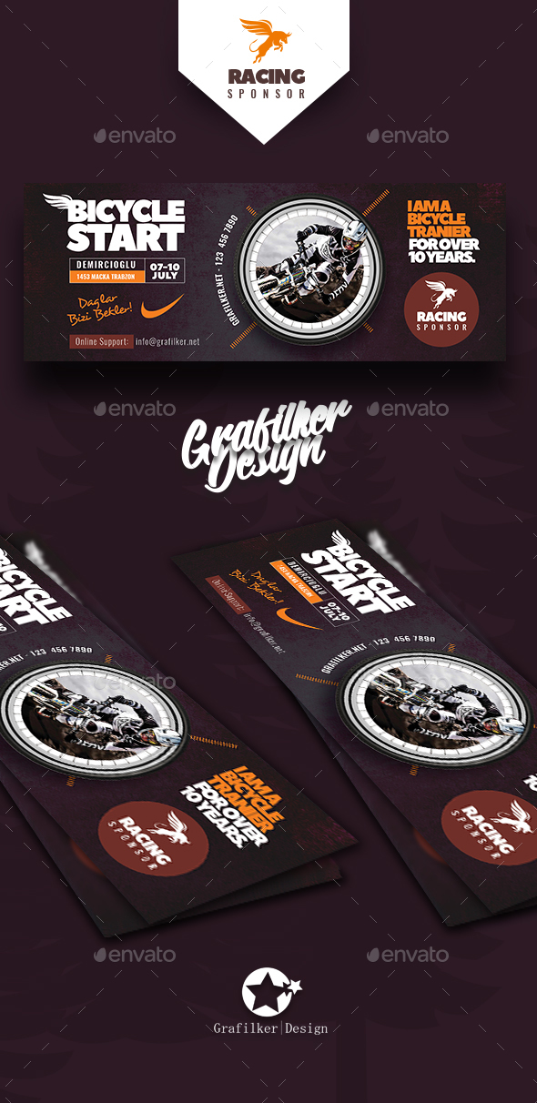 Bicycle Racing Cover Templates - Facebook Timeline Covers Social Media