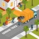 Isometric Garbage Recycling Composition