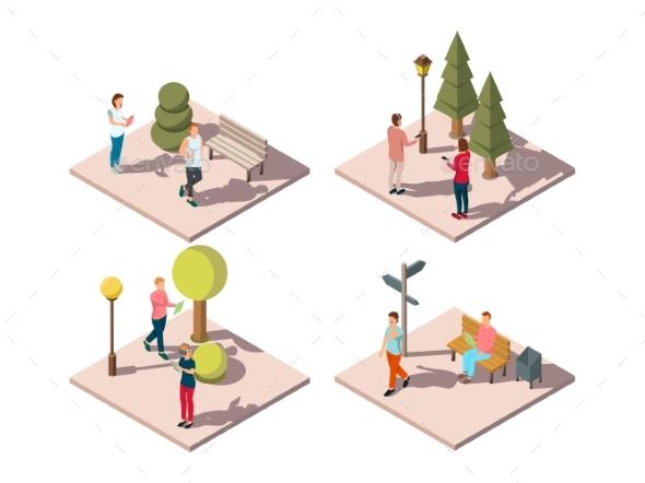 Gadgets Urban Park Composition - Landscapes Nature