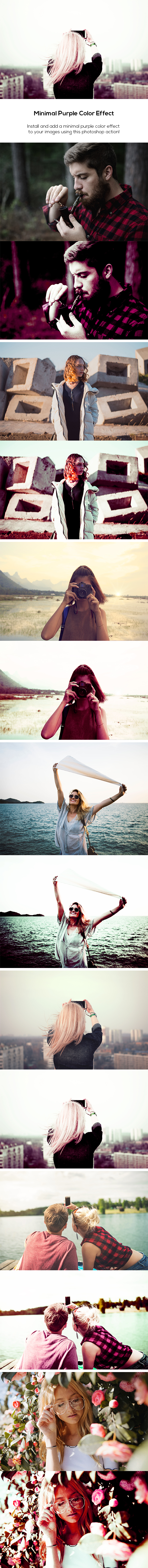 Minimal Purple Color Effect Action - Photo Effects Actions