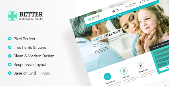 Better Medical – Medical Clinic & Healthy PSD Template