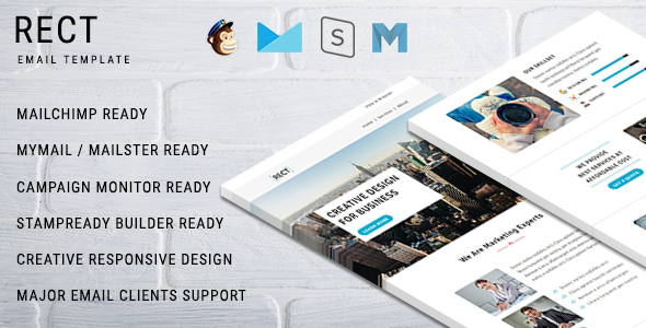 Image of RECT - Multipurpose Responsive Email Template With Online StampReady Builder Access