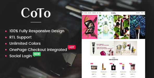 Coto – Beauty & Spa Store OpenCart 2.3 Theme