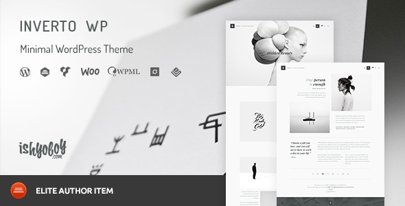 Inverto WP - Minimal WordPress Theme - Portfolio Creative