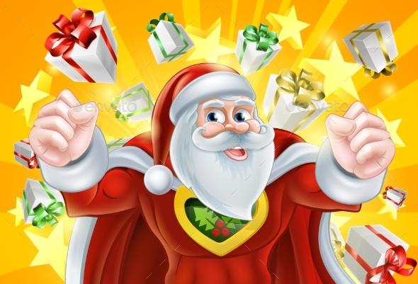 Christmas Superhero Santa Claus - Seasons/Holidays Conceptual