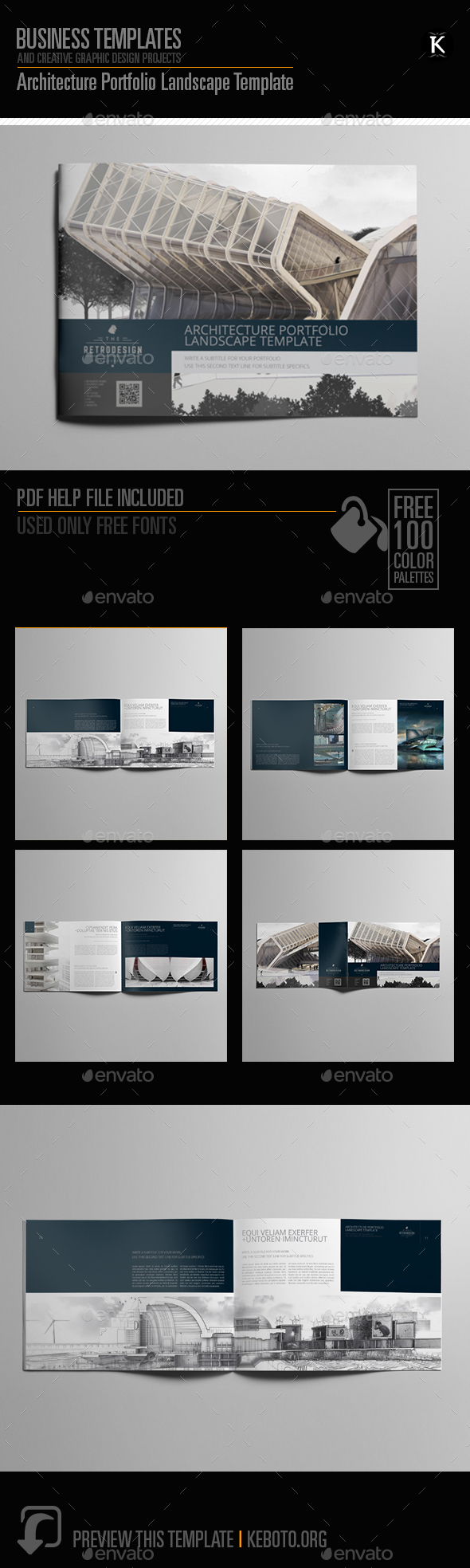 A4 Portfolio Template Graphics, Designs & Templates