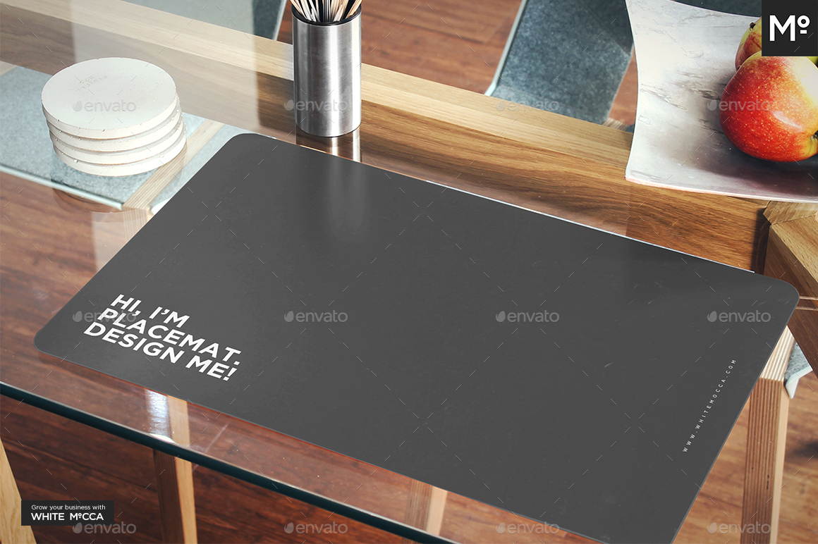 The Placemat on the Table Mock-up by Mocca2Go | GraphicRiver