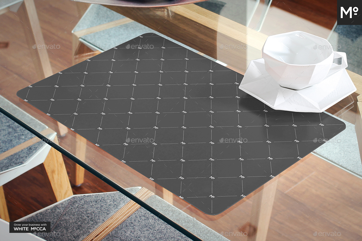 The Placemat On The Table Mock Up By Mocca2go Graphicriver