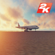 Airplane and car racing sunset - VideoHive Item for Sale