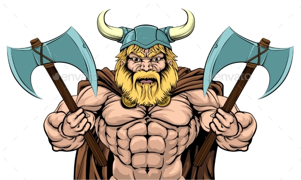 Mean Viking Axe Warrior - People Characters