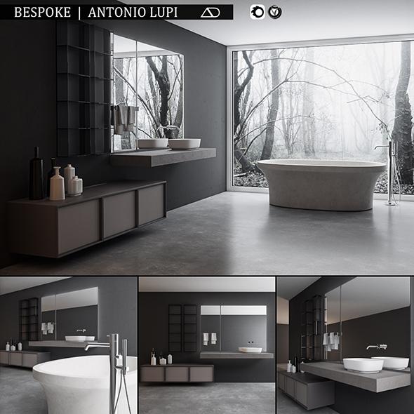 Bathroom furniture set Bespoke - 3DOcean Item for Sale