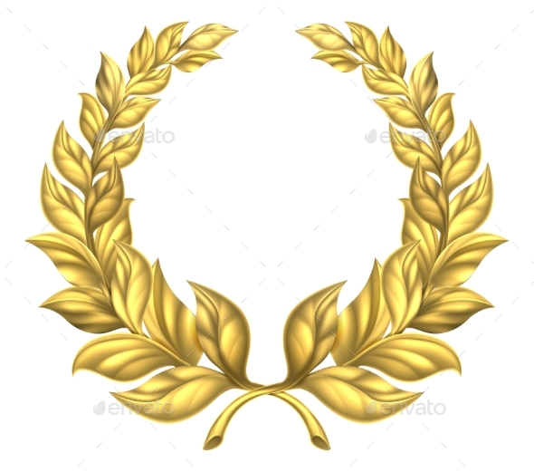 Gold Laurel Wreath - Miscellaneous Vectors